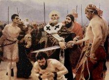 Николай Мирликийский спасает трех невинно осужденных на казнь. Репин И.Е. 1888 г